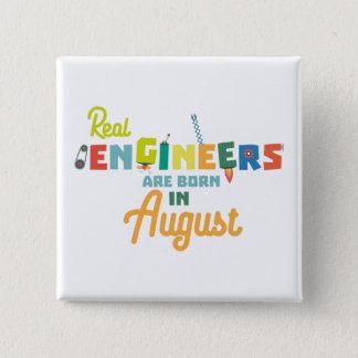 Bóton Quadrado 5.08cm Os engenheiros são em agosto Z479b nascidos