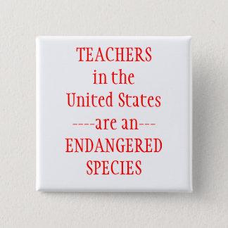 Bóton Quadrado 5.08cm Os Estados Unidos dos professores