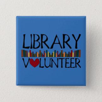 Bóton Quadrado 5.08cm Os livros voluntários da biblioteca - mude a cor