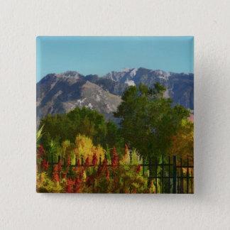 Bóton Quadrado 5.08cm Outono da montanha de Wasatch em Utá