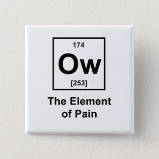 Bóton Quadrado 5.08cm Ow, o elemento da dor