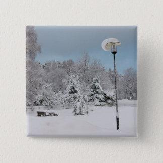 Bóton Quadrado 5.08cm País das maravilhas do inverno