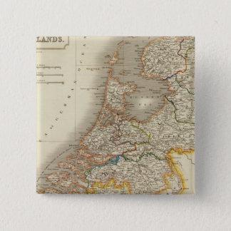 Bóton Quadrado 5.08cm Países Baixos 7
