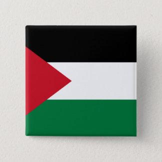 Bóton Quadrado 5.08cm Palestina, Palau embandeira