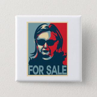 Bóton Quadrado 5.08cm Para o poster da esperança de Hillary Clinton