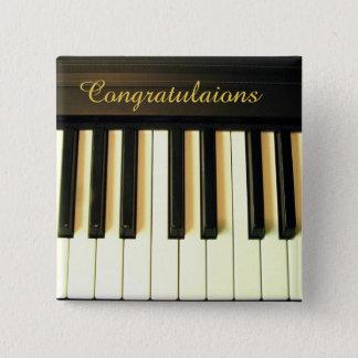 Bóton Quadrado 5.08cm Parabéns! _