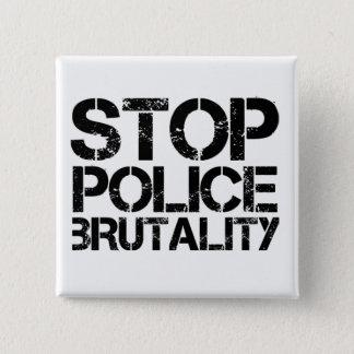 Bóton Quadrado 5.08cm Pare a brutalidade de polícia