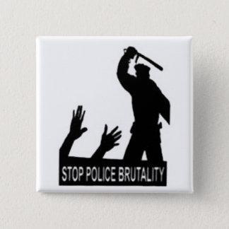 Bóton Quadrado 5.08cm pare o botão da brutalidade de polícia
