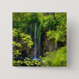 Bóton Quadrado 5.08cm Parque nacional dos lagos Plitvice em Croatia