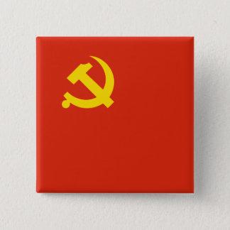 Bóton Quadrado 5.08cm Partido Comunista Chinês, Colômbia