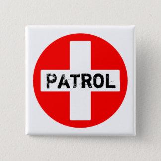 Bóton Quadrado 5.08cm Patrulha - botão