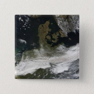 Bóton Quadrado 5.08cm Pena da cinza do vulcão 2 de Eyjafjallajokull