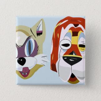 Bóton Quadrado 5.08cm Pequeno almoço em botões da máscara de Tiffany