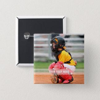 Bóton Quadrado 5.08cm Personalize a foto dos esportes