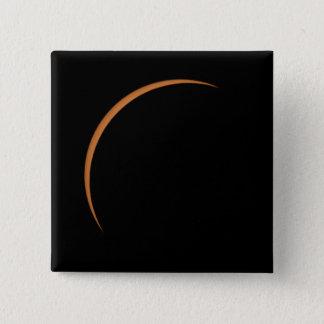 Bóton Quadrado 5.08cm Perto do eclipse solar parcial máximo