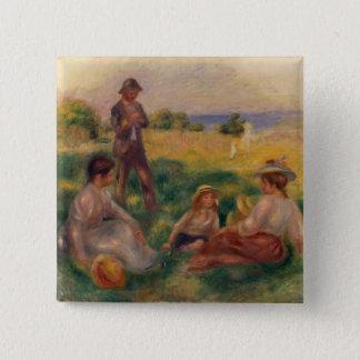 Bóton Quadrado 5.08cm Pierre um partido de Renoir | no país em Berneval