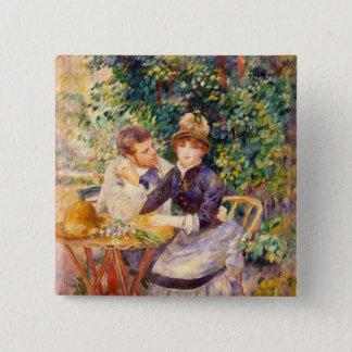 Bóton Quadrado 5.08cm Pierre um Renoir | no jardim