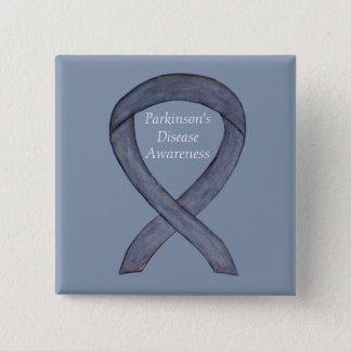 Bóton Quadrado 5.08cm Pin da arte da fita da consciência da doença de
