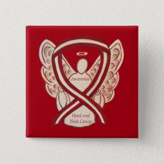 Bóton Quadrado 5.08cm Pin do anjo da fita da consciência principal e de
