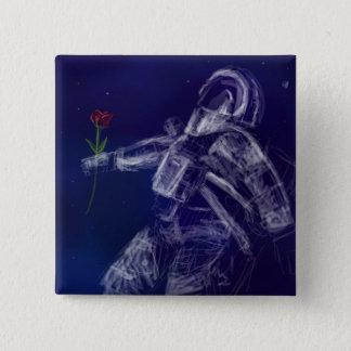 Bóton Quadrado 5.08cm Pin do astronauta