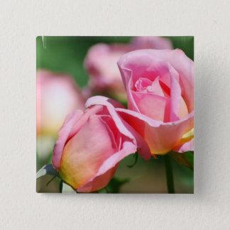 Bóton Quadrado 5.08cm Pin do botão do rosa do rosa