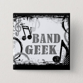 Bóton Quadrado 5.08cm Pin do geek da banda