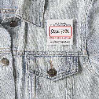 Bóton Quadrado 5.08cm Pin do projeto da caixa da alma