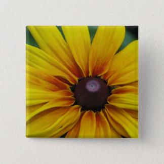 Bóton Quadrado 5.08cm Pin do quadrado da flor de Susan de olhos pretos