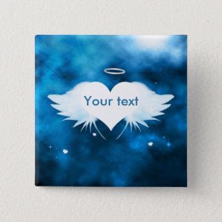 """Bóton Quadrado 5.08cm Pin quadrado 2"""" do botão - anjo do coração"""