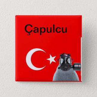 Bóton Quadrado 5.08cm Pinguim de Capulcu