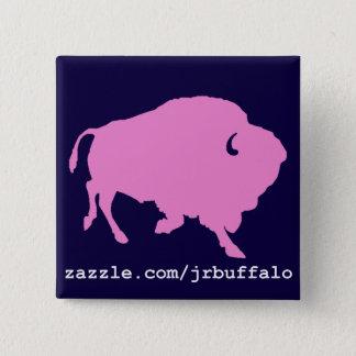 Bóton Quadrado 5.08cm pino cor-de-rosa do quadrado do búfalo