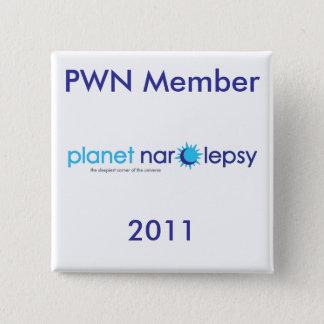 Bóton Quadrado 5.08cm Pinos do membro de PWN