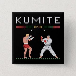 Bóton Quadrado 5.08cm Pixel Kumite