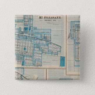 Bóton Quadrado 5.08cm Planos de Mt Plessant, Toledo