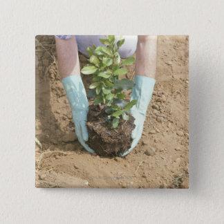 Bóton Quadrado 5.08cm Plante uma árvore no Dia da Terra