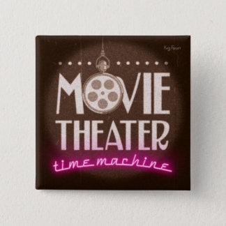 Bóton Quadrado 5.08cm Podcast da máquina do tempo do cinema
