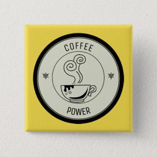 Bóton Quadrado 5.08cm Poder do café