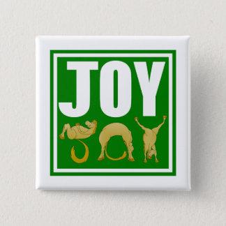 Bóton Quadrado 5.08cm Pôneis do Natal da alegria