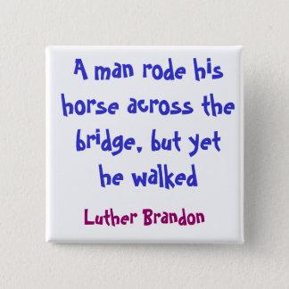 Bóton Quadrado 5.08cm Ponte do cavalo