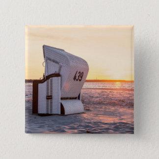 Bóton Quadrado 5.08cm Por do sol de Ostsee