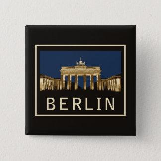 Bóton Quadrado 5.08cm Porta de Berlim Brandemburgo