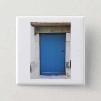 Bóton Quadrado 5.08cm Porta holandesa do azul da fotografia