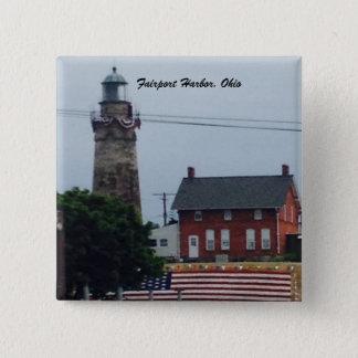 Bóton Quadrado 5.08cm Porto de Fairport, Ohio 4o do botão da foto de