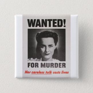 """Bóton Quadrado 5.08cm Poster da propaganda """"querido para o assassinato"""""""