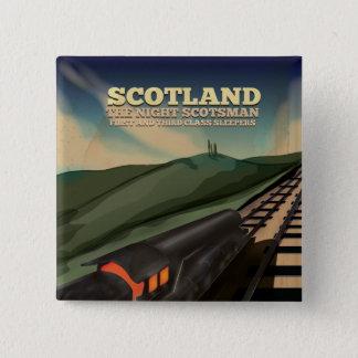 Bóton Quadrado 5.08cm Poster de viagens de Scotland