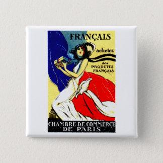 Bóton Quadrado 5.08cm Poster francês de 1920 produtos do comprar