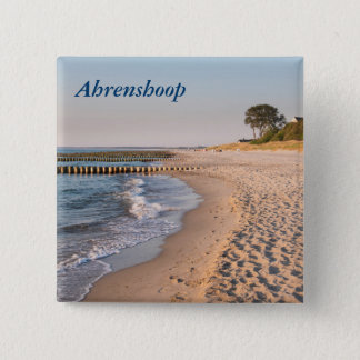 Bóton Quadrado 5.08cm Praia de Ahrenshoop