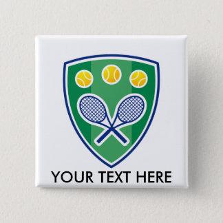 Bóton Quadrado 5.08cm Presente feito sob encomenda do tênis para o clube