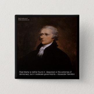 Bóton Quadrado 5.08cm Presentes de Alexander Hamilton