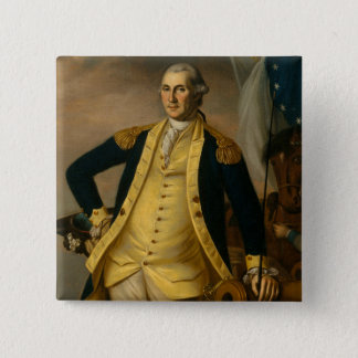 Bóton Quadrado 5.08cm Presidente americano: George Washington